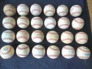 24 Regulation Game Used Leather Covered Baseballs
