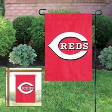 Cincinnati Reds 18 x 12.5 Embroidered Large Garden Flag. New For 2018