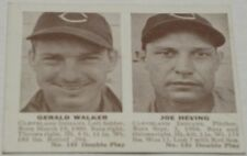 1941 Double Play #135 Gee Walker/Heving (Indians) Sharp