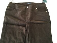 Jones NY Signature Shape Stretch Corduroy Root beer 14w NWT $95