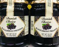 2Pk 24oz Danish Choice Natural Blackcurrant Preserves ~* FAST FREE SHIPPING ! *~