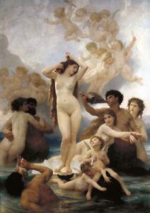 W.Bouguereau - The birth of Venus - HUGE A1 size 59.4x84cm Canvas Print Unframed