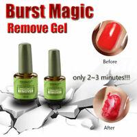 NEW Burst Magic Profeshional Removes Soak-off Gel Polish Magic Remover 15ml