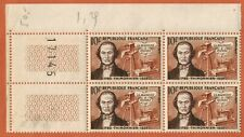 1955-Bloc(4)Timbres-France neuf **B.Thimonnier-Inventeur-(10F)-Yt.1013