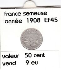 BF 1 )pieces de 50 cent  france  1908
