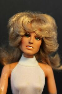 "MEGO  - FARRAH FAWCETT 13."" Fashion Doll - Twist & Turn 1970's - Charlies Angels"