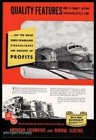1942 ROCK ISLAND & MILWAUKEE ROAD Railroad Locomotive Train Photos Alco Train AD