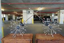PAIR OF VINTAGE SPACE AGE STYLE SPUTNIK CHANDELIERS