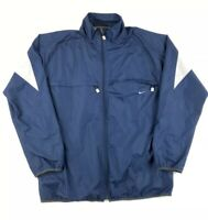 Vintage Y2K Nike Track Jacket Windbreaker Size XL Navy Blue Full Zip Nylon
