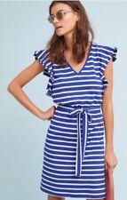 Dolan Left Coast Size L Flutter-Sleeve Striped Dress NWT