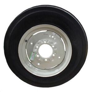 One 600x16 600-16 6.00-16 Tractor Tire 3 Rib 12 Ply w/ Rim & Tube Thorn Resist