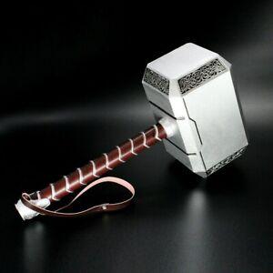 1:1 Solid Avengers Thor Hammer Replica Cosplay Mjolnir Prop Collector Halloween