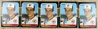 Cal Ripken Jr 1987 Donruss #89 Baltimore Orioles 5ct Card Lot.