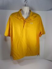 Under Armour Mens Yellow Polo XLarge Shirt #15F