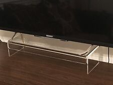 New Clear Acrylic Television TV Monitor PS4 Xbox narrow stand with extra support