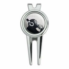 Headphone Chimp Monkey Wall Golf Divot Repair Tool and Ball Marker