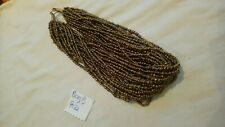 Bronze Metallic Colour Glass Seed Bead Necklace tribal multistrand