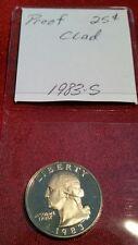 1983-S 25C WASHINGTON QUARTER BU PROOF WOW! PRETTY COIN!