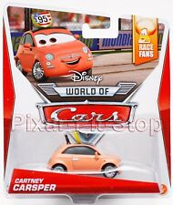 Disney Pixar Cars 2 3 Cartney Carsper WGP Race Fan Series Cardback 1/9 NEW NIP!