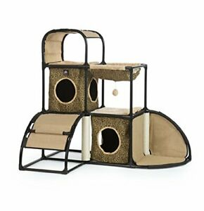 Prevue Pet Products Catville Townhome Leopard Print