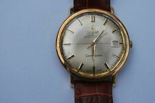 Genuine Leather Band Round Watches OMEGA