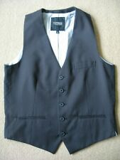 TOPMAN Men's smart black pinstrip Waistcoat size:38 Never Worn