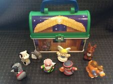 FISHER PRICE LITTLE PEOPLE ON THE GO NATIVITY LUNCH BOX Noah Reindeer Camel Lot