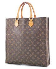 Authentic LOUIS VUITTON Sac Plat Monogram Tote Shopping Bag #28537B