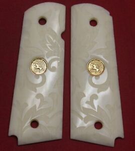 Colt Firearms Full Size 1911 Carved Ivory Grips