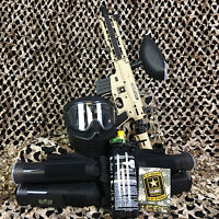 NEW Tippmann US Army Project Salvo EPIC Paintball Marker Gun Package Kit - Tan