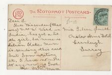 Miss Lilian Smith Onslow Arms Hotel Cranleigh 1904 254a