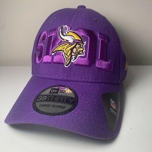 Minnesota Vikings New Era 39Thirty Hat Cap SKOL Stretch Fit Various Sizes Purple
