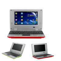 """BRAND NEW 7"""" NETBOOK MINI LAPTOP WIFI ANDROID 4GB NOTEBOOK PC UK STOCK RED"""