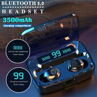 TWS Wireless Bluetooth 5.0 Headphones Headset Mini In-Ear Buds Stereo Earphone @
