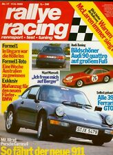 rallye racing 17 88 1988 @@ Audi 90 Pro Tech @ Porsche 911@ Kailine BMW 535i
