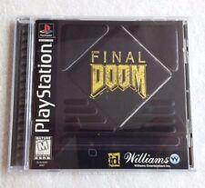 Final Doom (Sony PlayStation 1) PS1 Complete Black Label Tested
