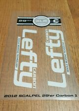 Sticker Decal Set for 2012 Cannondale SCALPEL 29er CARBON 1 Lefty XLR 100 Fork