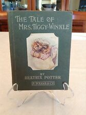 THE TALE OF MRS. TIGGY-WINKLE 1905 by Beatrix Potter F WARNE & CO Pasted Picture
