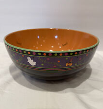 New ListingLongaberger Pottery Halloween Party Boo Bowl Candy Treats Free Shipping Nwob