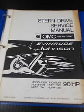 OMC 1970 Stern Drive Repair Service Manual 90hp 384487