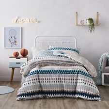 Adairs Kids Tribal Feather Queen Quilt Cover Set BNIB - RRP $149.99