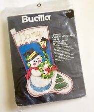 Vtg Frosty's Wreath Snowman Christmas Felt Customize Stocking Kit Bucilla 48768