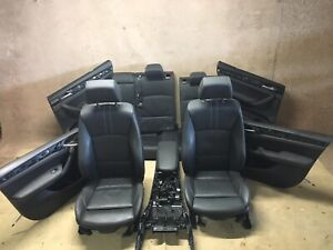 BMW X4 F26 BLACK LEATHER SEATS & DOOR PANELS RHD