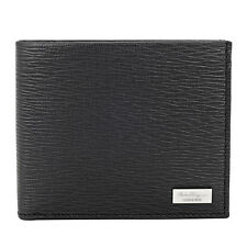 Ferragamo Bifold Leather Wallet with Coin Case - Nero