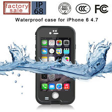 Black iPhone 6 6s Builders Case Hard Waterproof Shockproof Slim Fullbody Cover