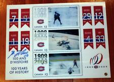 Montreal Canadiens Centennial Canada Post Advertising Display Signed Guy Lafleur