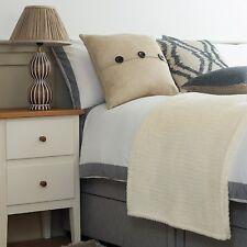 Luxury Double Bed Throw - Faux Fur, Sofa or Bed Soft Warm Cream Fleece Blanket