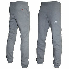 Mens Nike Slim Fit Fleece Joggers Tracksuit Bottoms Track Sweat Jogging Pants Grey S