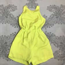 KOOKAI Playsuit Size S Romper Jumpsuit Short Lime Yellow Party Dressy