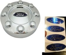 4pc 2005-2014 FORD F-250 F-350 Center Cap Wheel Hub Logo Decals Stickers Chrome